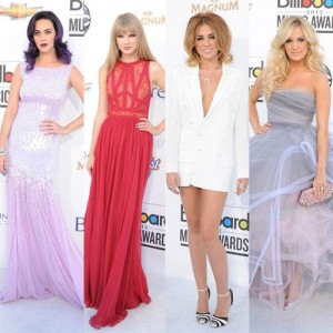 Katy Perry, Taylor Swift, Miley Cyrus and Carrie Underwood, the best
