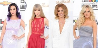 Katy Perry, Taylor Swift, Miley Cyrus and Carrie Underwood, the best of the Billboard