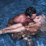 Lady Gaga Kissing Taylor Kinney in Pool 150x150 Lady Gaga Showing off Her New Engagement Ring