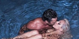Lady Gaga Kissing Taylor Kinney in Pool