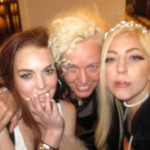 Lady Gaga Party With Lindsay Lohan 150x150 Lindsay Lohan Nude for Terry Richardson