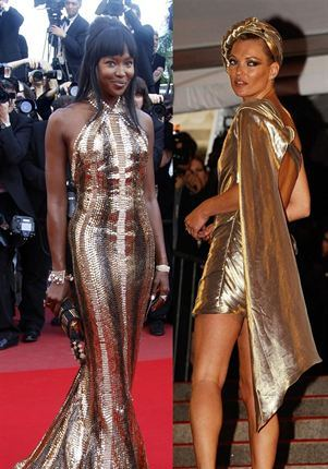 Naomi Campbell and Kate Moss Golden Girls of Olympics