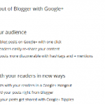 New Feature Google+ Tab in Blogger Dashboard 150x150 How To Change Old Interface of Blogger