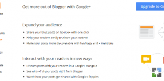 New Feature Google+ Tab in Blogger Dashboard