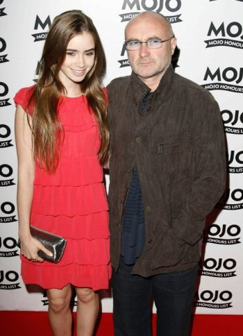 PHIL AND LILY COLLINS Not So Hot Fathers Super Hot Daughters
