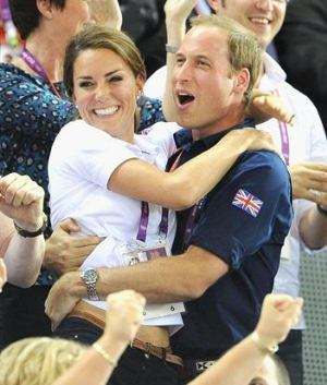 Princess Kate Middleton and William Cheers for Olympians