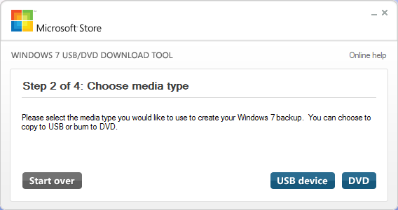 Windows 7 USB DVD Download Tool2