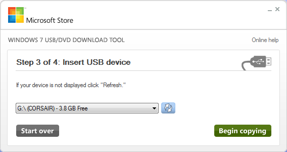 Windows 7 USB DVD Download Tool3