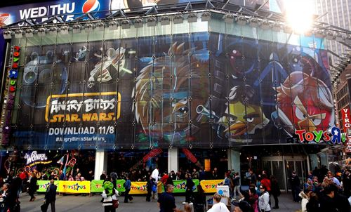 Angry Birds Star Wars Take Times Square Angry Birds Star Wars Take Times Square New York