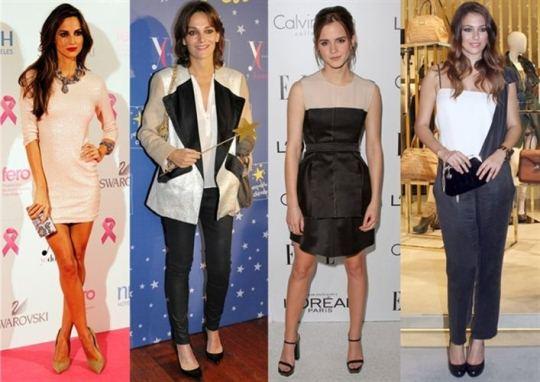 Ariadne Artiles Laura Ponte Emma Watson And Blanca Suarez Black And White And Pink Sparkle