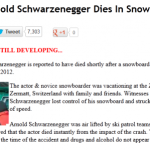 Arnold Schwarzenegger Dies In Snowboard Accident 150x150 Johnny Depp Died Victim Of Another Death Hoax