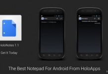 HoloNotes Great Notepad For ICS And Jellybean