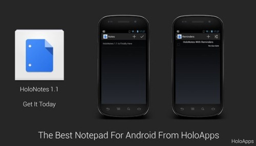 HoloNotes Great Notepad For ICS And Jellybean HoloNotes Great Notepad For ICS And Jellybean