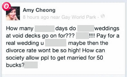 NTUC Amy Cheong Facebook Blunder