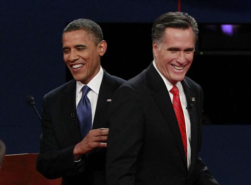 Presidential Debate 2012 Obama and Mitt Romney