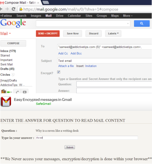 SafeGmail Send Encrypted Emails From Gmail Inbox with SafeGmail
