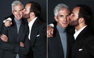 Tom Ford And Richard Buckley kissing