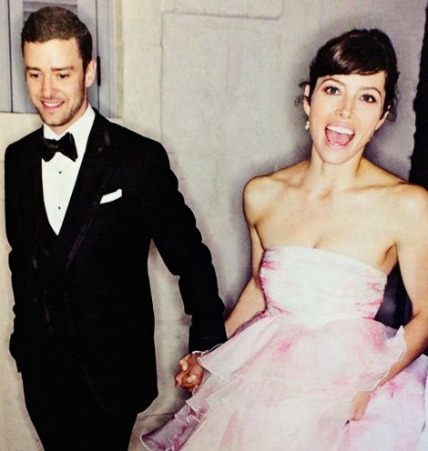 Jessica-Biel-Justin-Timberlake-wedding-Jessica-wore-pink-bride-dress