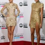 Taylor Swift and Heidi Klum Golden Dress Duel 150x150 Belated Halloween Party : Heidi Performs As Cleopatra