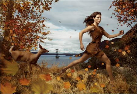 jessica biel pocahontas Celebrities Photos as Disney Legends by Annie Leibovitz