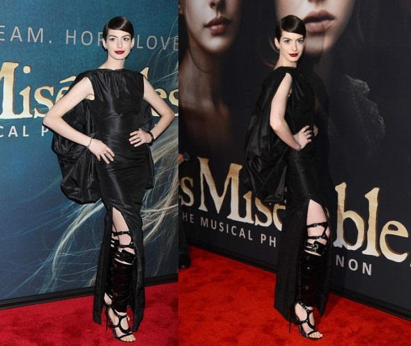 Anne Hathaway Wearing Very Stylish Skirt