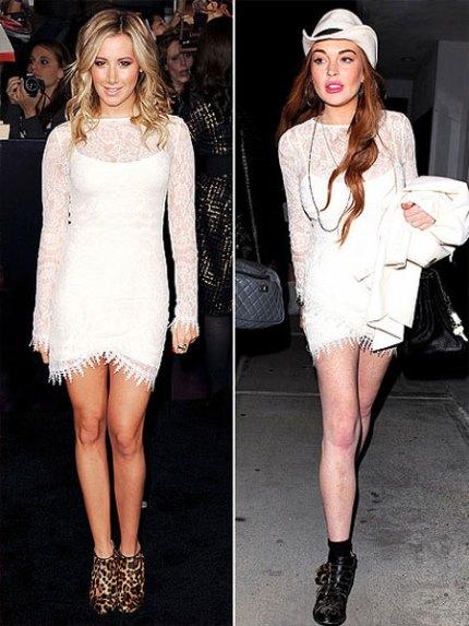 Ashley Tisdale And Lindsay Lohan