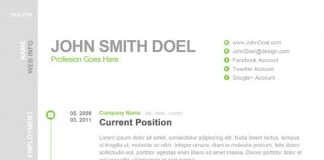 Free Digital CV Resume PSD Template John Smith Doel