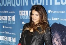 Monica Cruz Hot Look with Leather Jacket