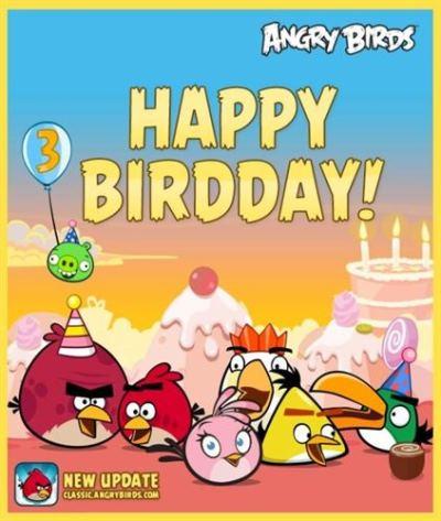 Third Anniversary of Angry Birds