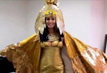 Belated Halloween Party : Heidi Performs As Cleopatra