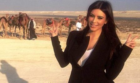 kardishian2 Kim Kardashian turned upside down and Bahrain outraged Muslims