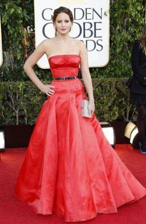 Jennifer Lawrence At Golden Globes 2013
