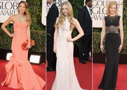 Jessica Alba Amanda Seyfried And Nicole Kidman Golden Globes