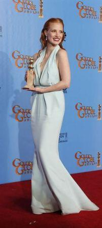 Jessica Chantain Best Dresses At Golden Globes 2013