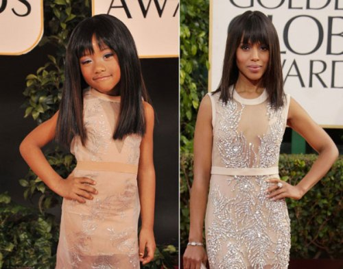 Kerry Washington The Child Models Dressed As Hollywood Stars At Golden Globe