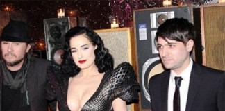 World Famous Bold Stripper Dita Von Teese in New York