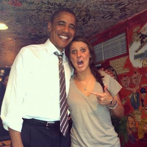 Madalyn Starkey's bar photo with President Obama has gone viral.