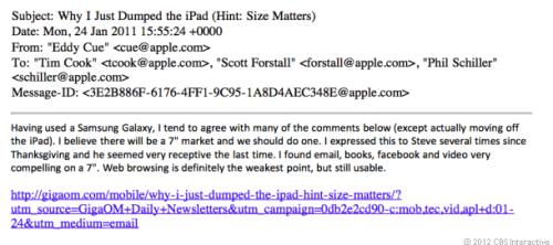 Apple's E-mail Thread About a 7-inch iPad