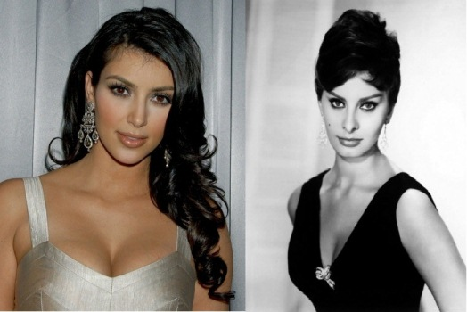 Kim Kardashian Dares to Compare herself with Sophia Loren