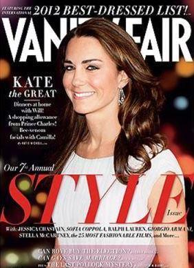 Princess Kate Middleton Top List Best Dressed Vanity Fair