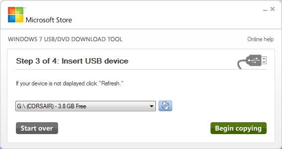 Windows 7 USB DVD Download Tool3