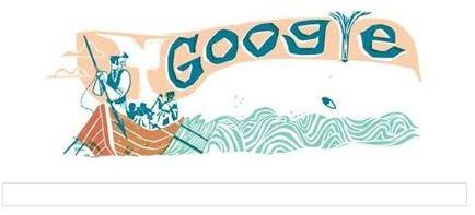 Herman Melville Moby Dick Hunt Google Doodle