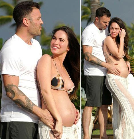 Megan Fox Baby Bump Photo