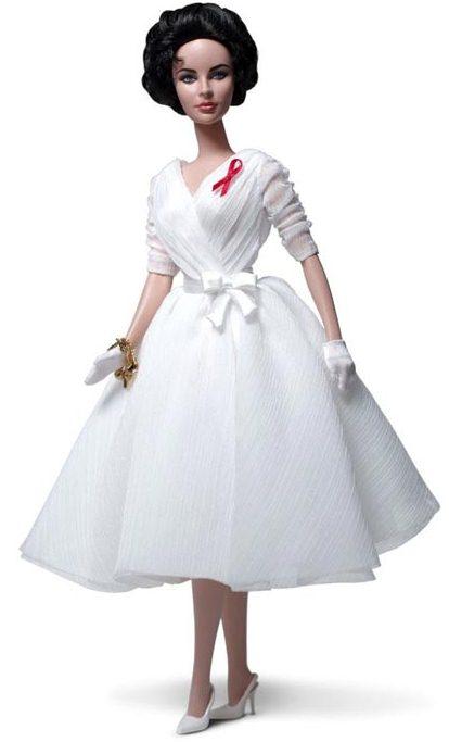 The Elizabeth Taylor White Diamonds Barbie Doll