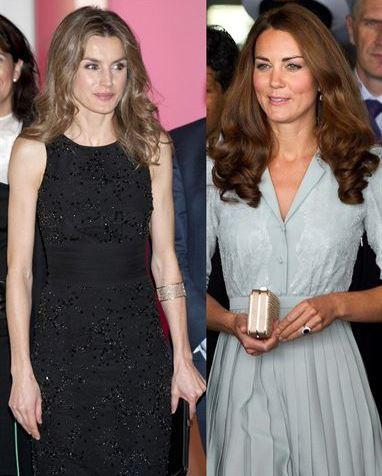 Letizia Ortiz And Kate Middleton Two Royal Princesses