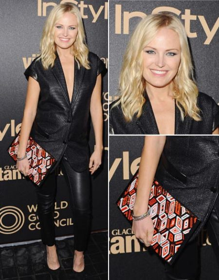 Malin Akerman Is Pregnant Wearing Leather Pants