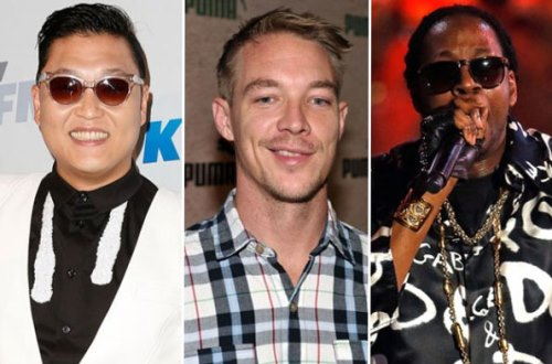 Psy and Famous Rapper 2 Chainz and Diplo