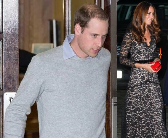 prince-william-Kate Middleton Stayed First Night in Hospital