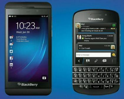 BlackBerry Z10 And Q10
