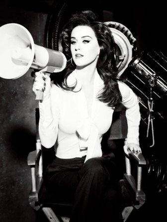 Katy Perry Black And White Photo